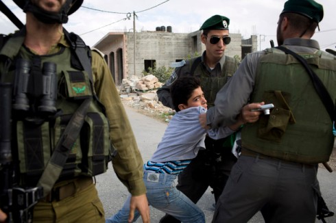 Demonstration against the Israeli occupation and separation wall, Al Ma'sara, West Bank, 9.11.2012