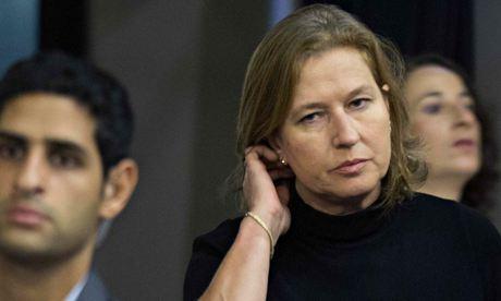 Israel's Justice Minister Tzipi Livni