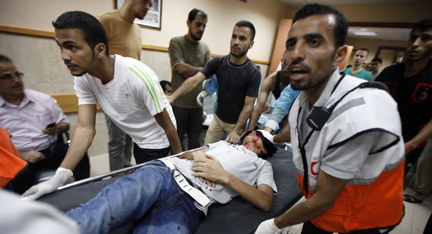 ICRC visit besieged Al Aqsa Hospital in Deir Al Balah - Gaza