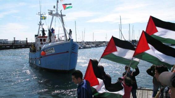 Freedom Flotilla III's Marianne av Göteborg on its way to Gaza.