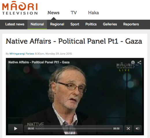 Kia Ora Gaza's Roger Fowler speaks to Native Affairs presenter Mihingarangi Forbes about hi-jacking of Freedom Flotilla