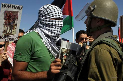 Israeli-security-clash-with-palestinian-protesting-against-gaza-air-strikes-West-bank-1